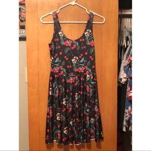 NWT Black Cherry Scoop Skater Dress - Black Milk
